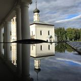 Rosyjski antyczny kościół w Suzdal Rosja, Złoty pierścionek Fotografia Stock