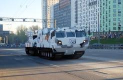 Rosyjski Arktyczny ziemia-powietrze pociska CC$SM pistoletu i rakiety system na Vityaz DT-10 bazie fotografia royalty free