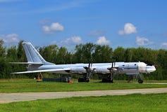 Rosyjski bombowiec Tu-95 niedźwiedź Obrazy Stock