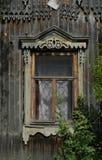 rosyjski drewniane okna Obrazy Royalty Free