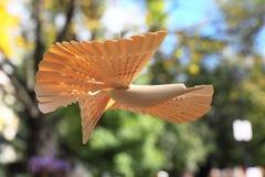 Rosyjski drewniany rzeźbiący ptak Obraz Stock
