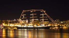 Rosyjski żeglowanie statek Pallada w Wiktoria, BC, Kanada zdjęcia royalty free