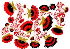 Rosyjski etniczny hohloma stylu tło Obrazy Royalty Free