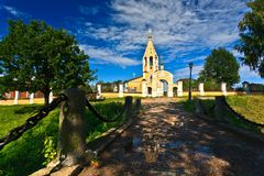 Rosyjski kościół XIV wiek Gorodnya fotografia royalty free