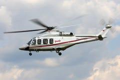 Rosyjski kolei Agusta A139 helikopter RA-01991 przy Panki airfiled Zdjęcia Stock