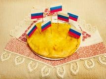 Rosyjski kulebiak Zdjęcia Royalty Free