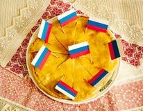 Rosyjski kulebiak Obraz Royalty Free