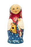 Rosyjski lali matrioshka z matte farbą odizolowywającą Obraz Stock