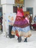 Rosyjski ludowy wakacyjny Maslenitsa w Kaluga regionie Obraz Stock