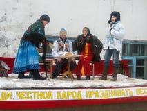 Rosyjski ludowy wakacyjny Maslenitsa w Kaluga regionie Obrazy Royalty Free