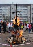 Rosyjski ludowy wakacyjny ostatki w Gatchina, Leningrad region, fotografia stock