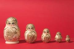 Rosyjski mały rzemiosło: matrioshka Zdjęcia Stock