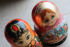 Rosyjski matryoshka Obrazy Royalty Free