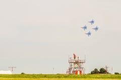 Rosyjski militarny myśliwów odrzutowych su-30 sm flanker Zdjęcia Stock