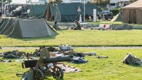 Rosyjski militarny obóz Obrazy Royalty Free