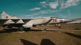 Rosyjski Militarny samolot przy bazą zbiory wideo