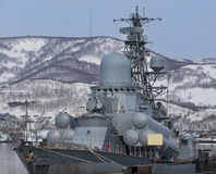 Rosyjski militarny statek Fotografia Royalty Free