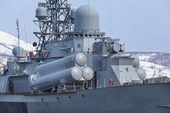 Rosyjski militarny statek Fotografia Stock