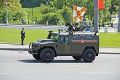 Rosyjski militarny wyposażenie Parada w mieście Obrazy Royalty Free