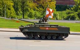 Rosyjski militarny wyposażenie Parada w mieście Obraz Royalty Free