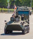 Rosyjski militarny wyposażenie Parada w mieście Zdjęcia Royalty Free