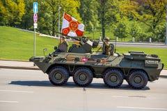 Rosyjski militarny wyposażenie Parada w mieście Fotografia Royalty Free