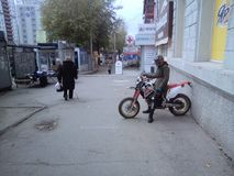Rosyjski motocyklista obrazy stock