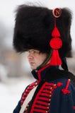 Rosyjski muszkietera portret Zdjęcia Royalty Free