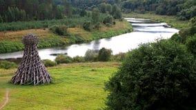 Rosyjski natura krajobraz, sztuka współczesna i Obrazy Stock
