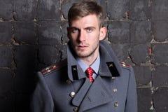 Rosyjski oficer wojskowy Zdjęcie Royalty Free
