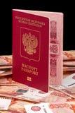 Rosyjski paszport dla obcych krajów Obraz Royalty Free