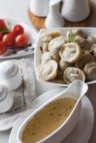 Rosyjski pelmeni zdjęcie stock