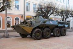 Rosyjski pojazd wojskowy na ulicie miasto Zdjęcie Stock