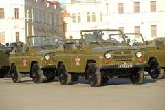 Rosyjski pojazd wojskowy UAZ Zdjęcia Stock