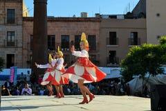 Rosyjski taniec grupy festiwal Kulturalny Zdjęcie Stock