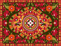 Rosyjski tradycyjny ornament z ptakami i kwiatami Severodvinsk region Obraz Stock