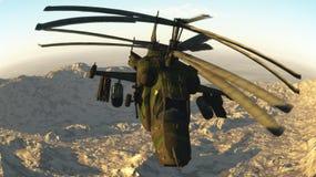 Rosyjski walczący helikopter Fotografia Stock