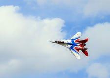 Rosyjski wojownik w powietrzu Zdjęcie Royalty Free