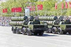 Rosyjski wojskowy odtransportowywa przy paradą na rocznym zwycięstwo dniu, Fotografia Stock