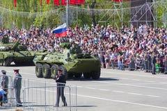 Rosyjski wojskowy odtransportowywa przy paradą na rocznym zwycięstwo dniu Fotografia Royalty Free