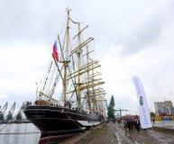 Rosyjski wysoki statek Kruzenshtern Zdjęcie Stock
