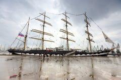 Rosyjski wysoki statek Kruzenshtern Obraz Royalty Free
