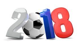 2018 rosyjskich futbol piłka nożna Russia 3d odpłaca się Zdjęcie Royalty Free