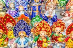 Rosyjskich pamiątek matryoshka zwana lala Fotografia Royalty Free