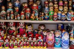 Rosyjskich pamiątek matryoshka zwana lala Zdjęcie Royalty Free
