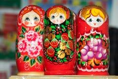 Rosyjskie drewniane lale Matrioshka Zdjęcie Stock
