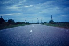 Rosyjskie drogi Zdjęcia Royalty Free