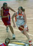 rosyjskie kobiety koszykówki Fotografia Stock