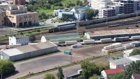 Rosyjskie koleje w Moskwa Obraz Royalty Free