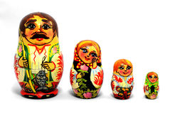 Rosyjskie lale Matryoshka Obrazy Royalty Free